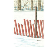 Deep Snow and Treeline Sketch