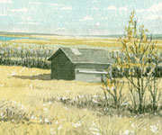Fall Landscape with Granary